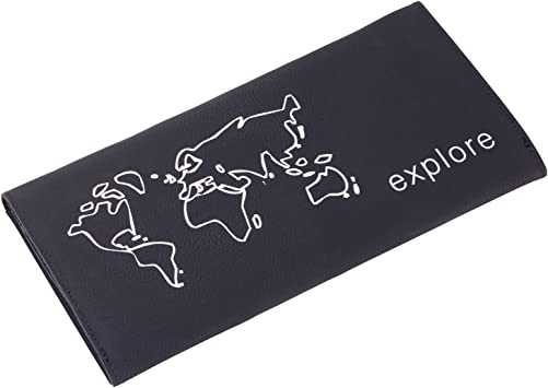 TROIKA Explore – TRW50/BS – Estuche para Documentos – para documento de Identidad, Pasaporte, Tarjetas de embarque, Estuche de Viaje – Lazo para bolígrafo – 9 Compartimentos – TROIKA-Original: Amazon.es: Equipaje