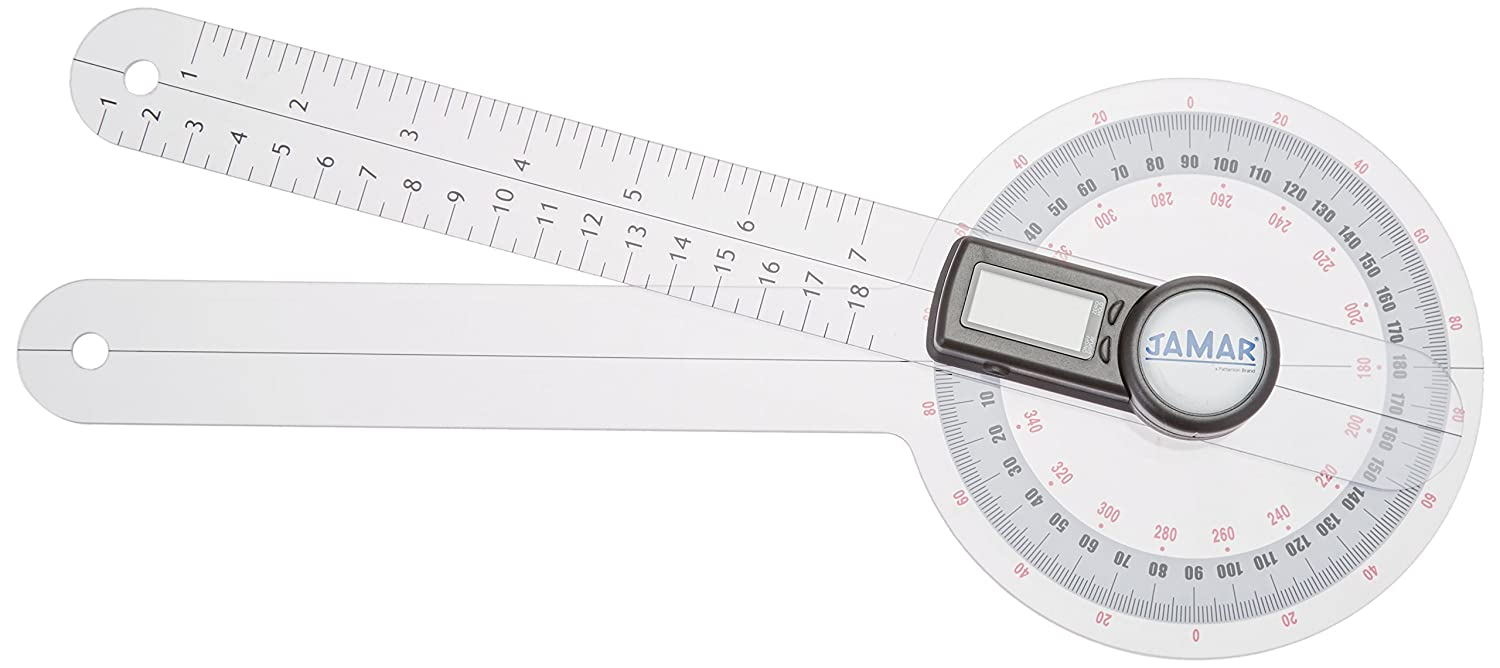 Jamar 081660141 Plus+ Digital Goniometer 12 Professional Grade Digital Hand and Finger Range of Motion Tool for Accurate Angle Measuring Protractor