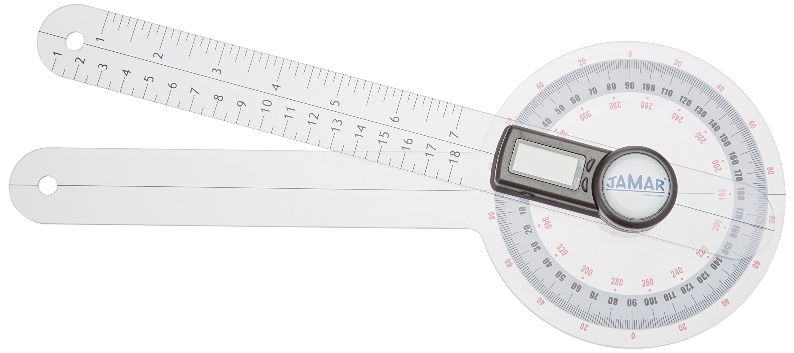 Jamar Plus+ Digital Goniometer, 12'', Orthopedic Professional Grade Digital Hand and Finger Range of Motion Tool for Accurate Angle Measuring, Protractor for Inch & Centimeter Linear Measurement