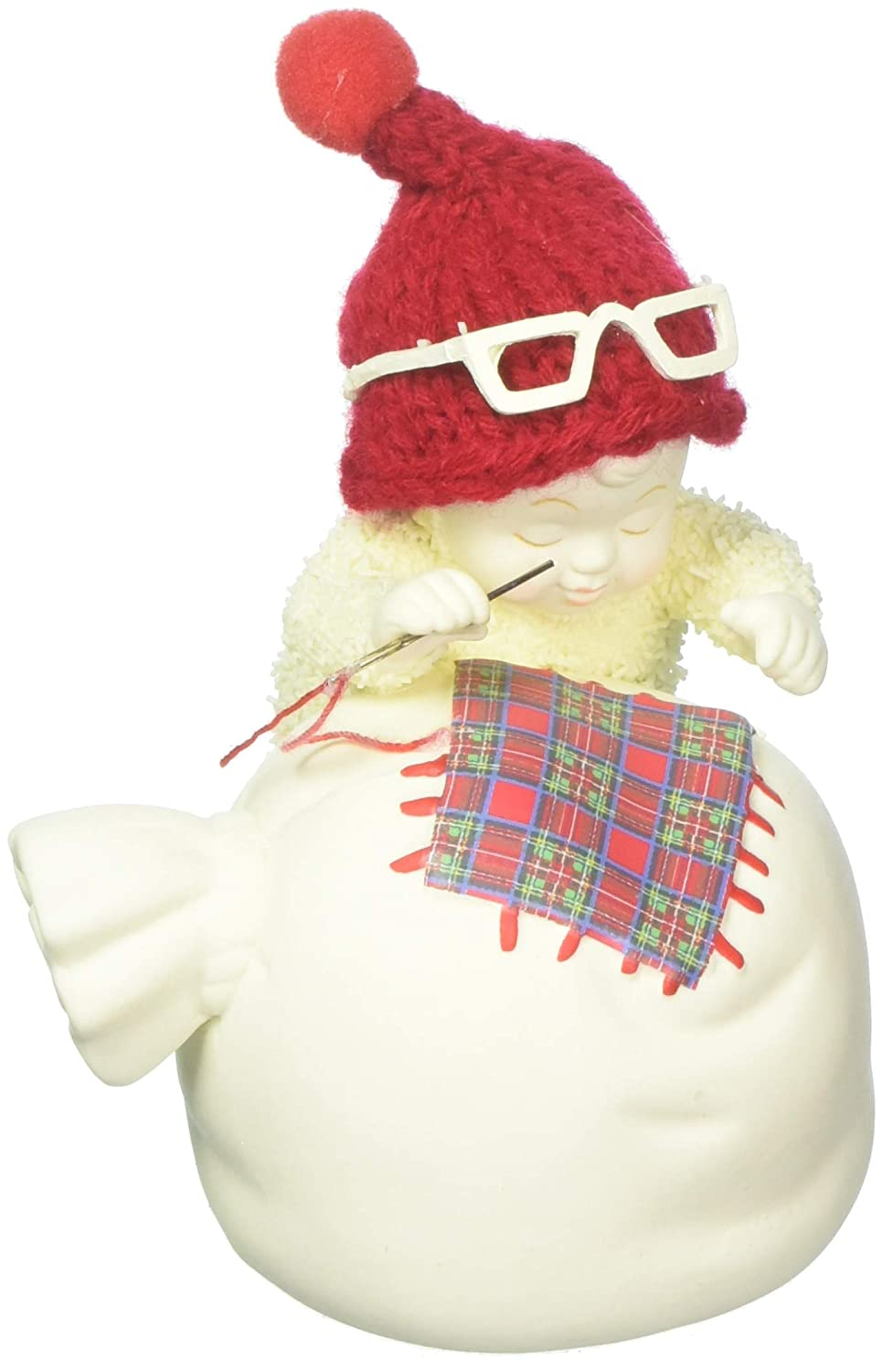 "Department 56 Snowbabies /""Mending Santa/'s Bag/"" Porcelain Figurine 3.5/"""