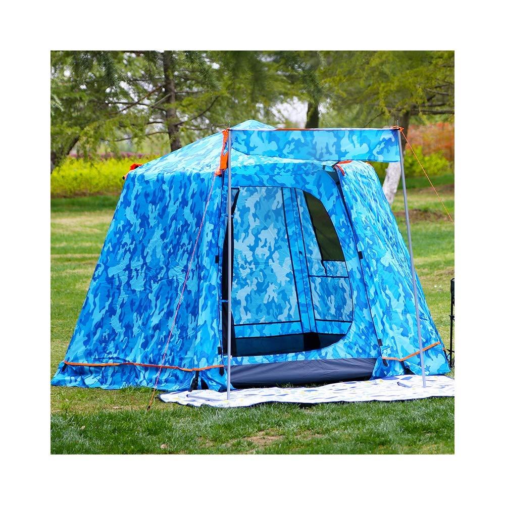 LIUSIYU LIUSIYU 4人テント4シーズン迷彩軍事防水防風超軽量キャンプ二重層スピードオープン自動屋外ドームテント B07PWK47YD blue blue B07PWK47YD, アーネ インテリア:82e84a09 --- itxassou.fr