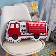 Brandream Boys Pillow Fire Truck Pillow Boys Bedroom Decorative Throw Pillows Cotton Kids Bedroom Decor