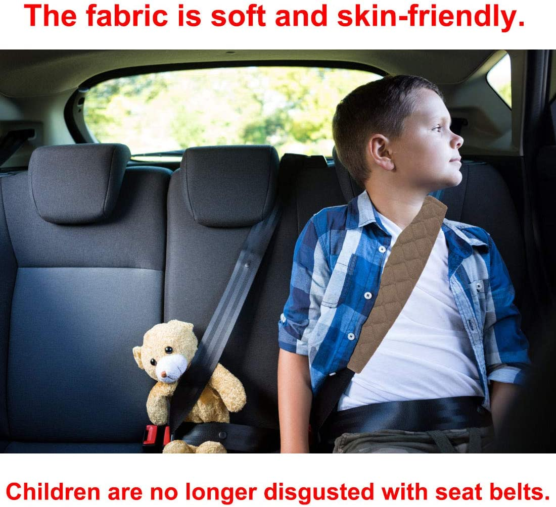 Airzir Seat Belt Cover Pad Laptop Bag A Must Have for Your Car Suitable for Car Seat Belt Blue Backpack Shoulder Bag 2-Pack Soft Car Seat Belt Shoulder Pad Cover for Adults and Kids