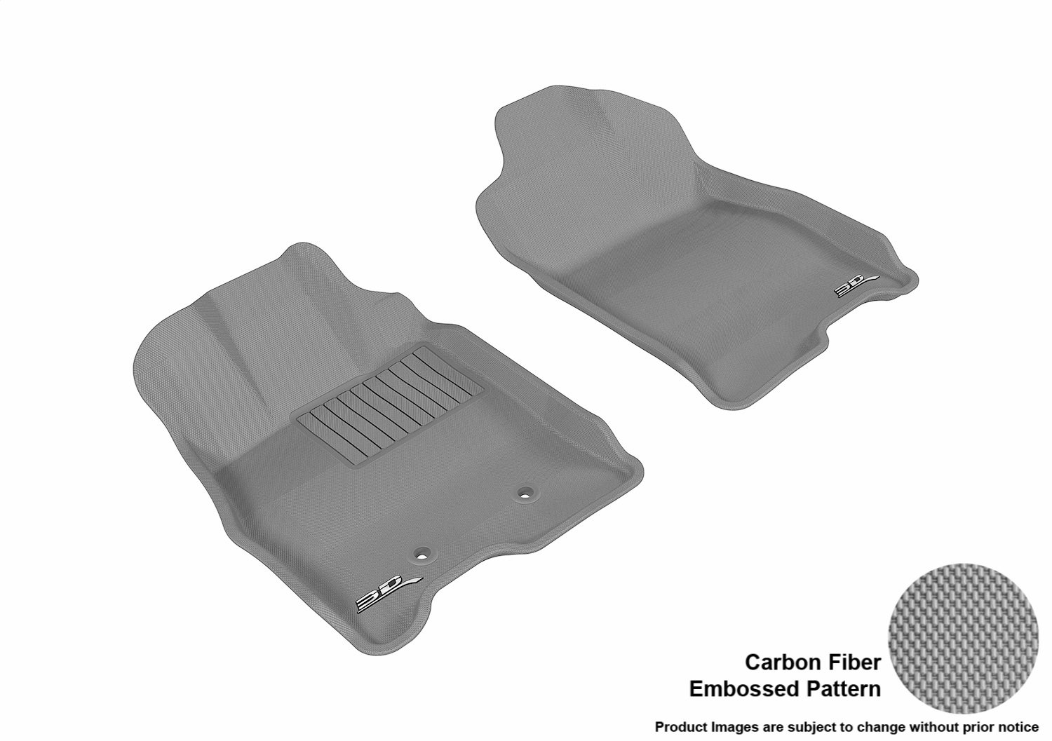 Tan L1BC01711502 3D MAXpider Front Row Custom Fit All-Weather Floor Mat for Select Buick Lucerne Models Kagu Rubber