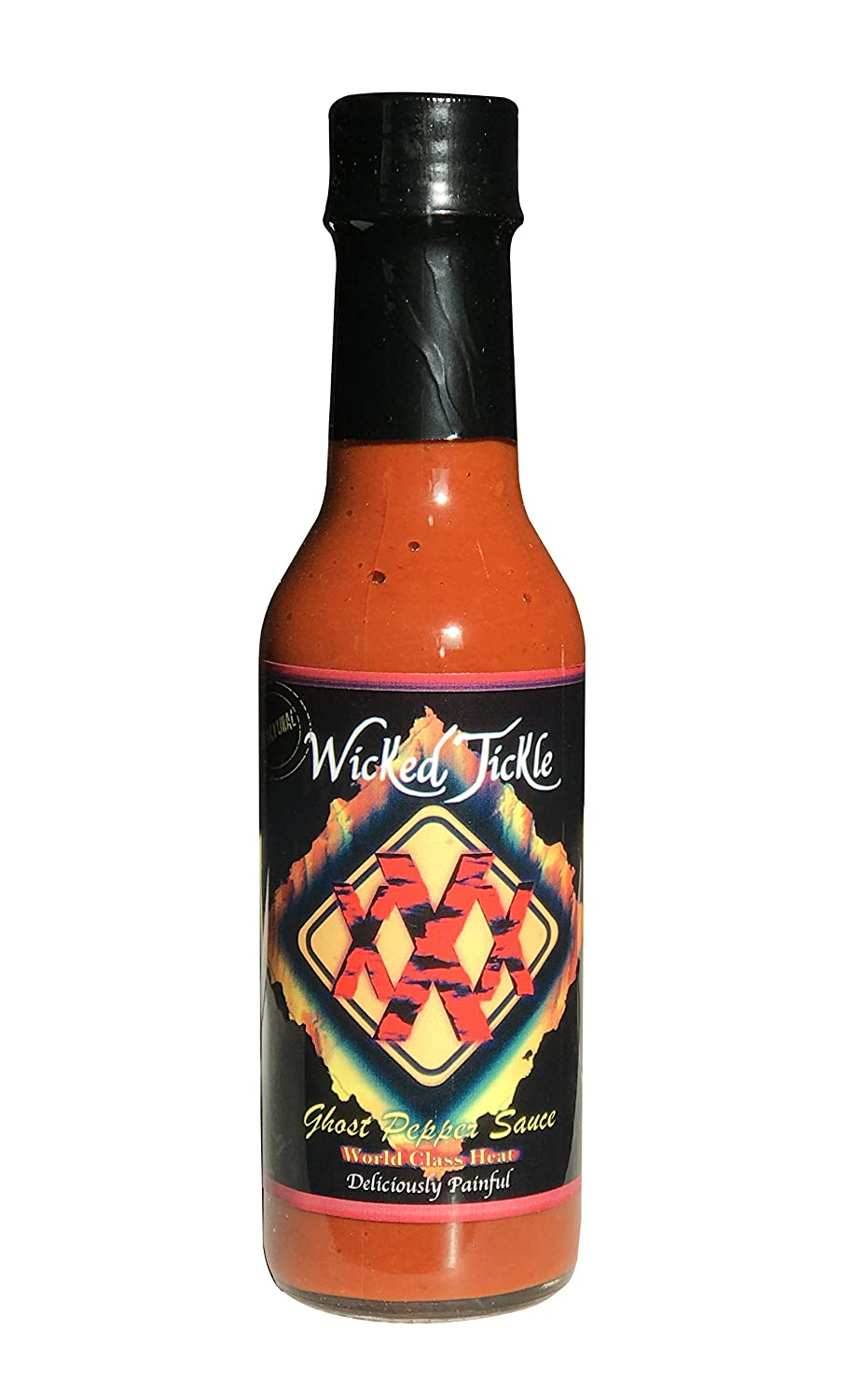 Ghost Pepper Hot Sauce Wicked Tickle XXX Extreme Heat Worlds Hottest Chipotle Sauce