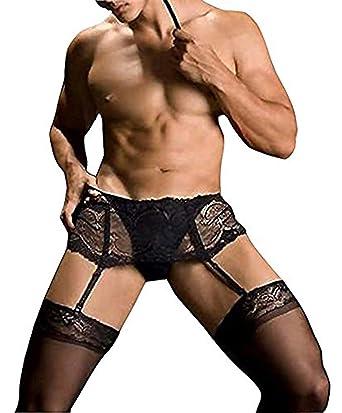 ac7d7fda81 HIMEALAVO atractiva cuerpo cuelgan medias liguero media bodies para negro para  hombre talla  Stature(165-180Cm)  Amazon.es  Ropa y accesorios