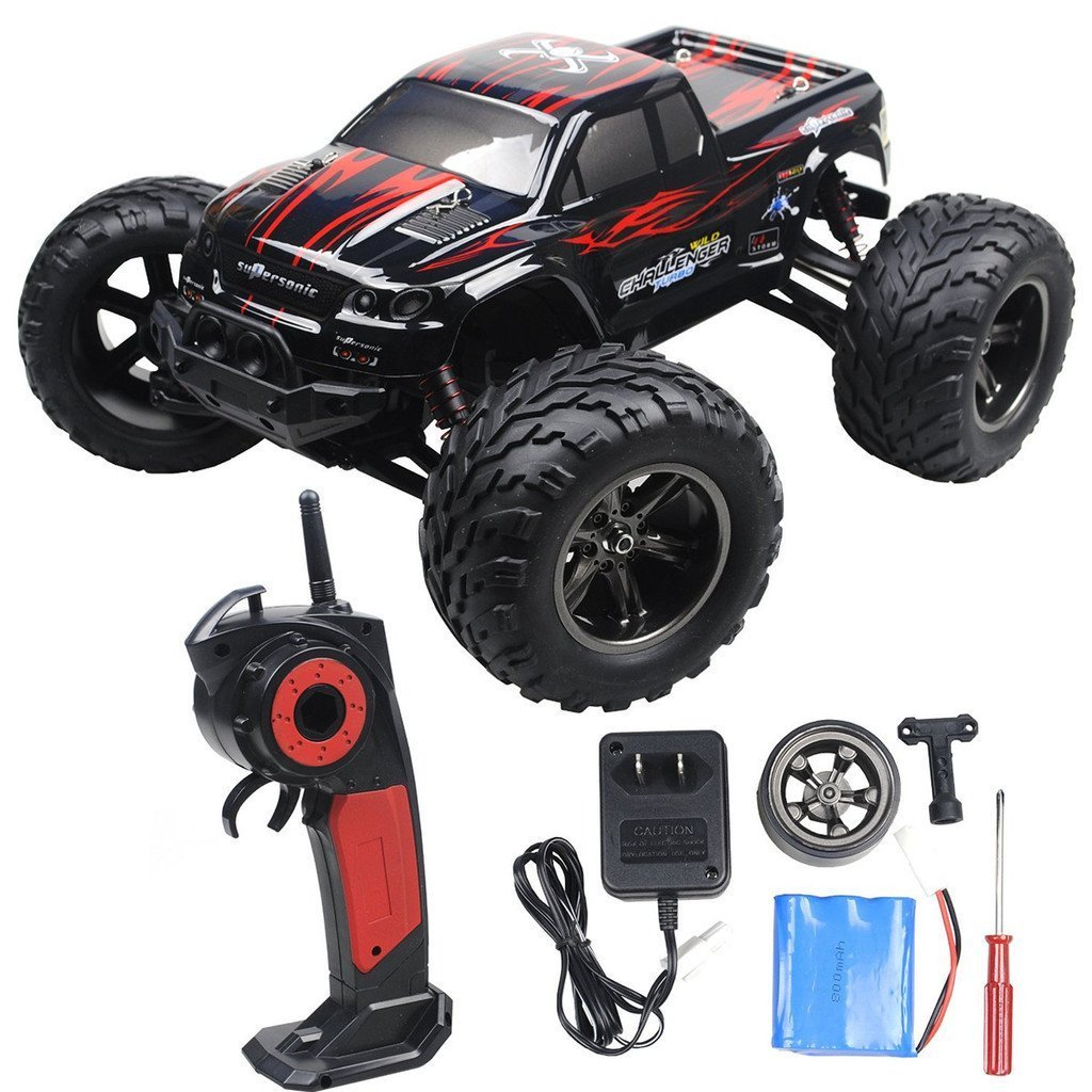 Toyjoy Foxx S911 Full Proportional 2wd Brush High Speed Radio Controlled Electric Motor Switch R C Monster Truck With 24ghz Remote Control Charger Included 1 12 Scale