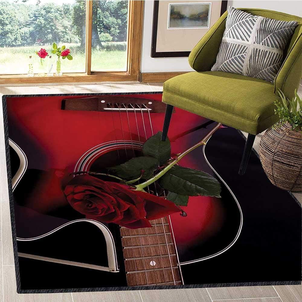 Alfombra de área roja y Negra para bebé, diseño de Guitarra ...