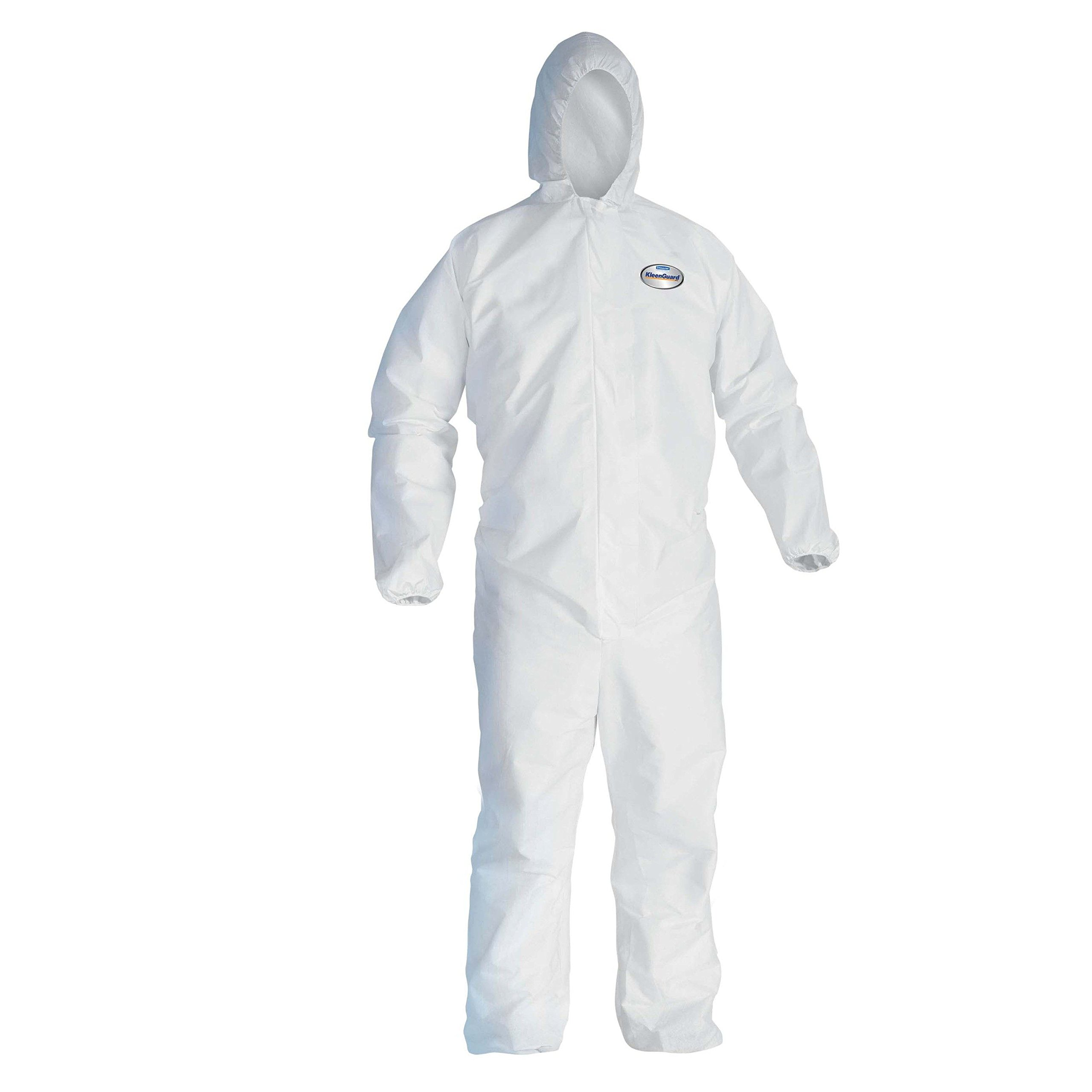 Kleenguard 41172 A40 Liquid and Particle Protection Coveralls, X-Large, White (Pack of 25)