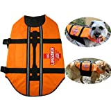 Pet Life Jacket Dog Swimming Safety Life Vest Preserver Quick Release Adjustable