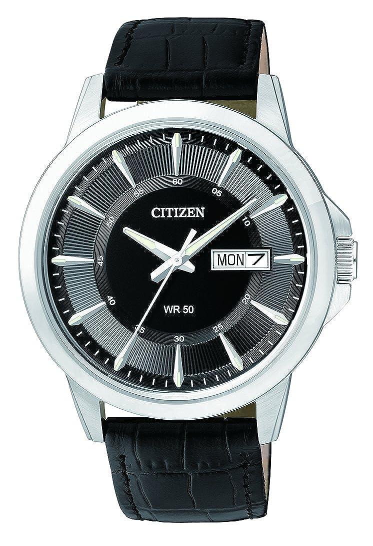 Citizen Reloj Analógico para Hombre de Cuarzo con Correa en Cuero BF2011-01EE