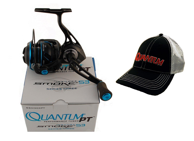 Quantum s3煙ssm30 X PT 6.0 : 1 Inshoreスピニングリール+帽子   B07BNQ29TJ