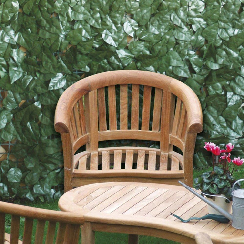 Siepe Artificiale 1.5x20 m Decorazioni Giardino VERDELOOK Sempreverde/® Point Foglia Lauro