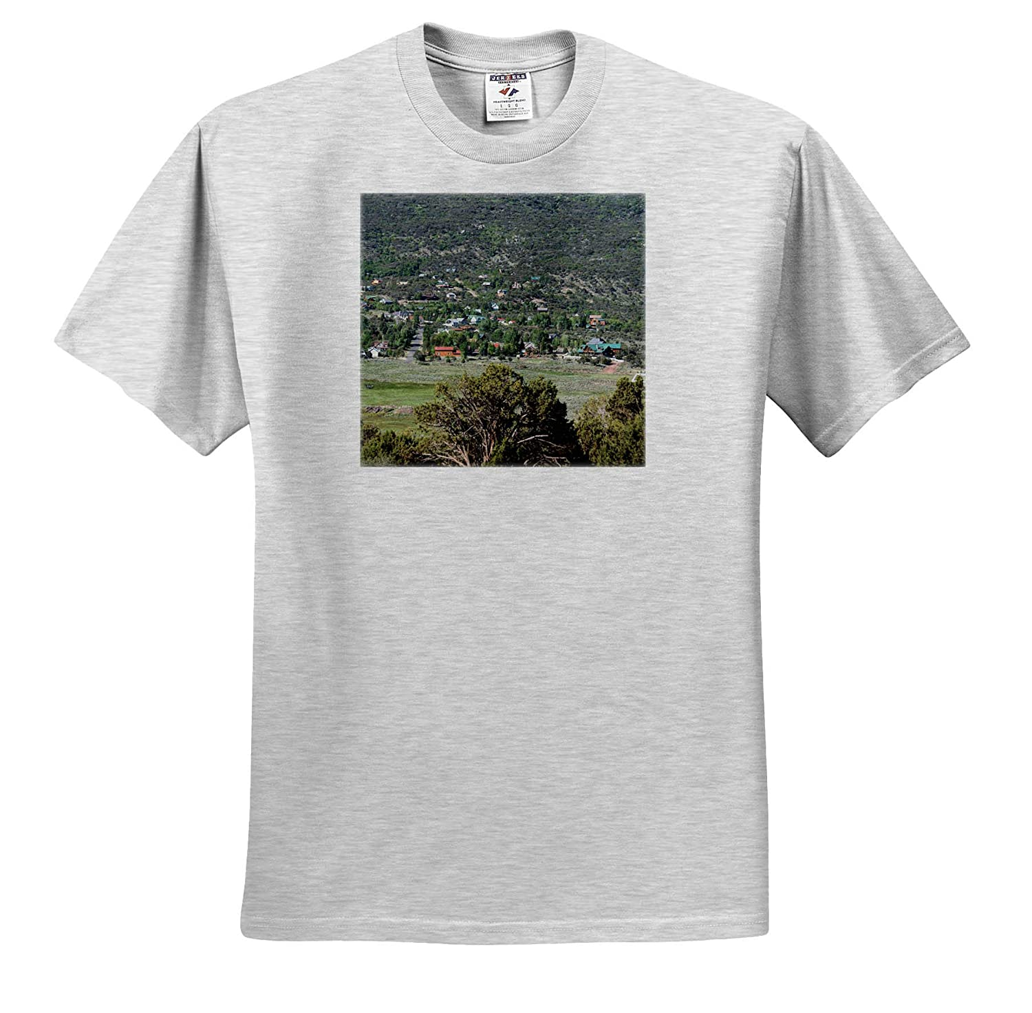 Pine Valley from Hill A View of Pine Valley up Lloyd Canyon from Grass Valley Road 3dRose Jos Fauxtographee T-Shirts
