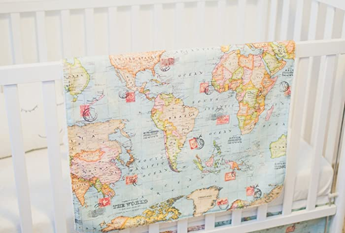 Amazon welcome to the world baby and kids blanket a handmade welcome to the world baby and kids blanket a handmade designer blanket with a world gumiabroncs Images