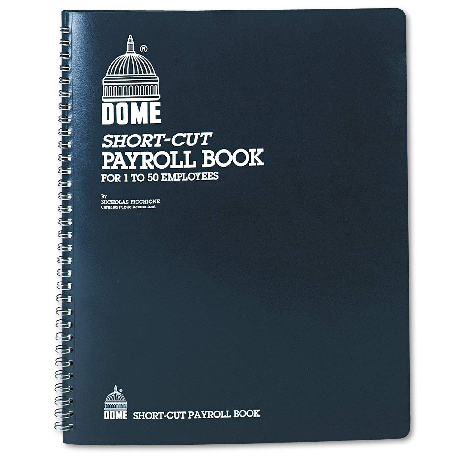 Dome Payroll Record, Single Entry System, Blue Vinyl Cover, 8 3/4 x11 1/4 Pages - 650, (Pack of 2)