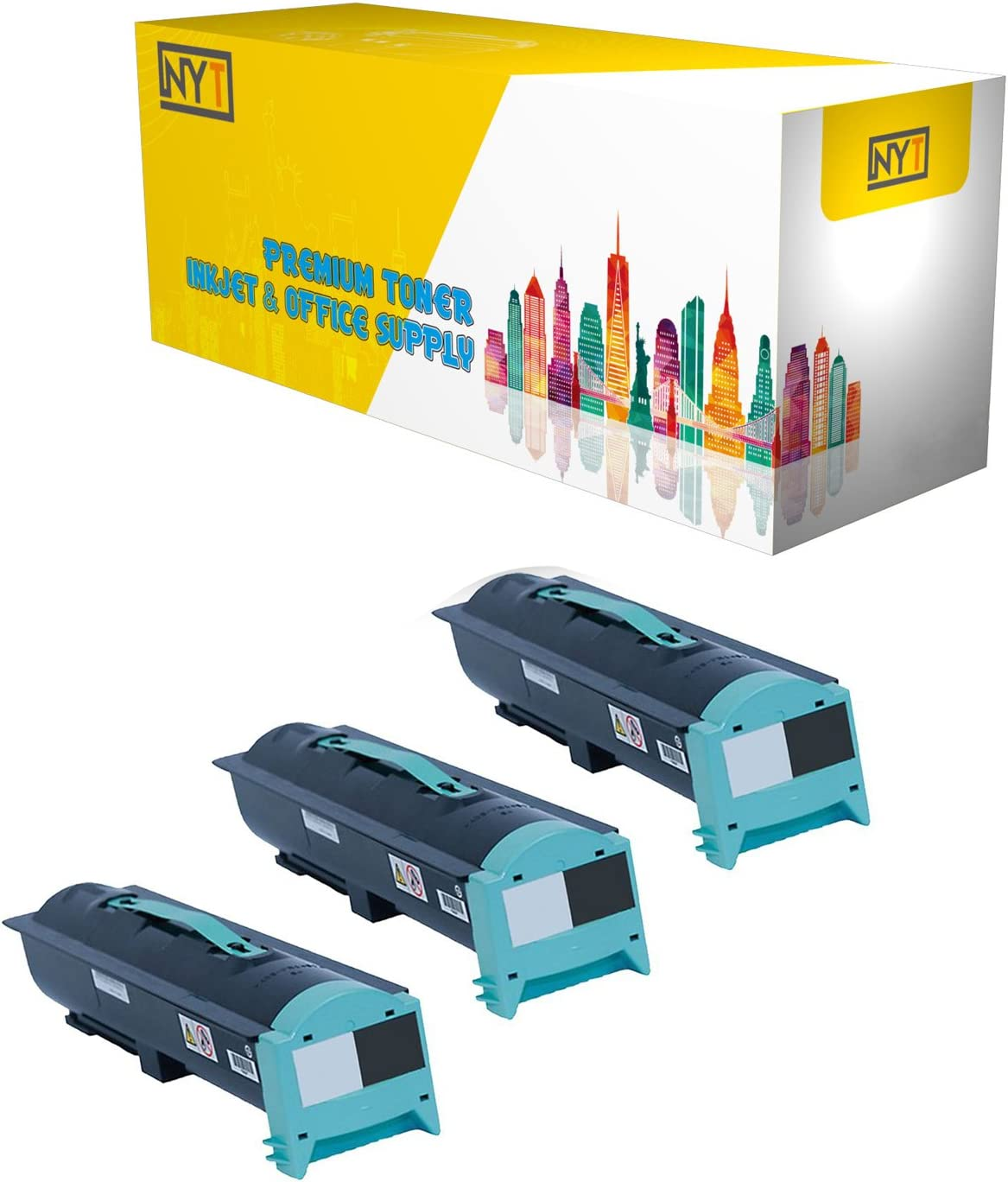 Black,3-Pack NYT Compatible High Yield Toner Cartridge Replacement for 75P6877 for IBM InfoPrint 1585