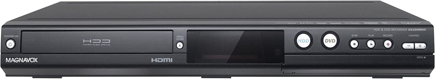 MAGNAVOX H2160MW9 HDD and DVD Recorder with Digital Tuner, Black