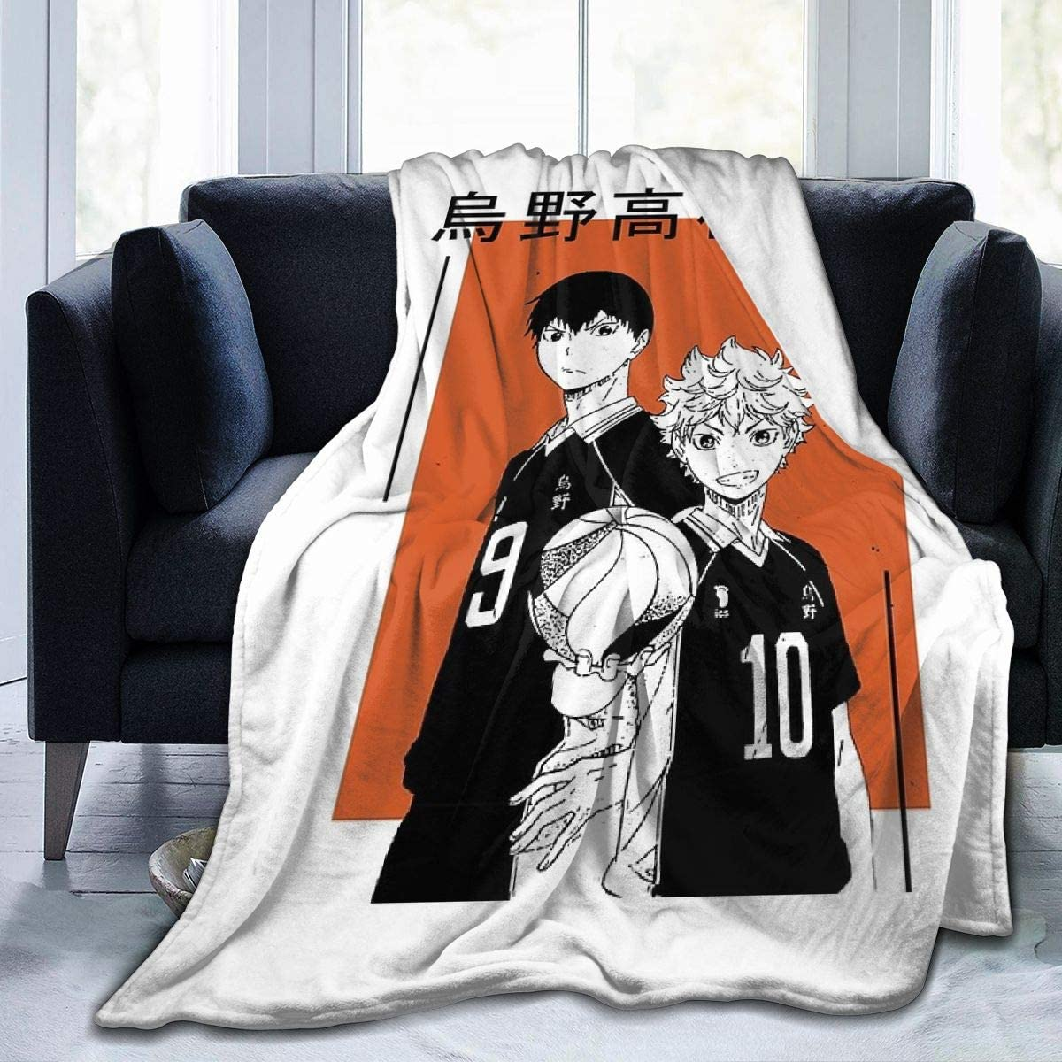Amazon Com Annbition Haikyuu Hot Anime Manga Karasuno Kagehina Flannel Throw Blanket Ultra Soft Bedspread Microfiber Fleece Blanket Durable Home Decor Perfect For Couch Sofa Bed Small 50x40 In For Kids Home Kitchen