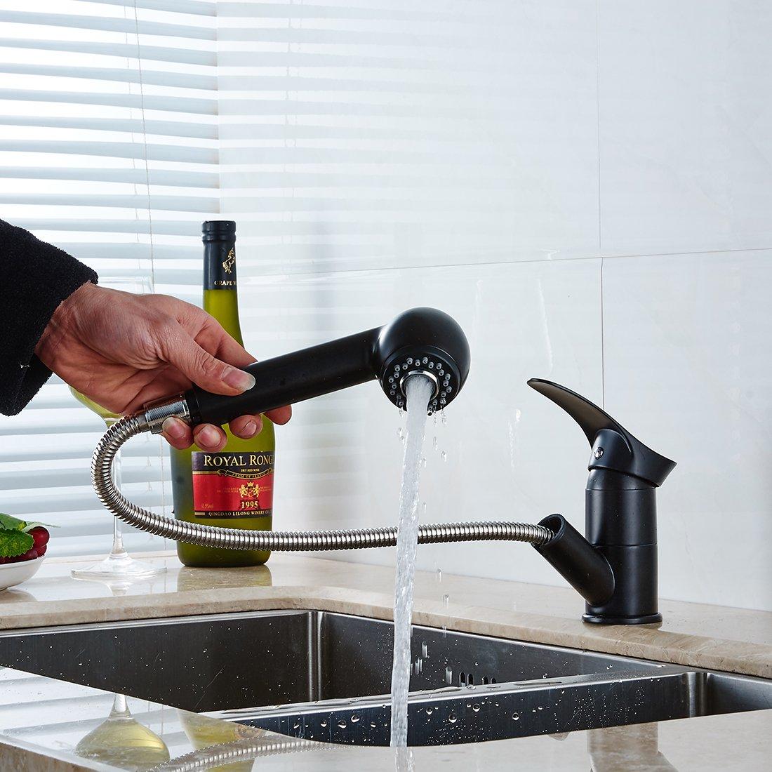 Fapully Küchenarmatur Mischbatterie Küche Wasserhahn ...