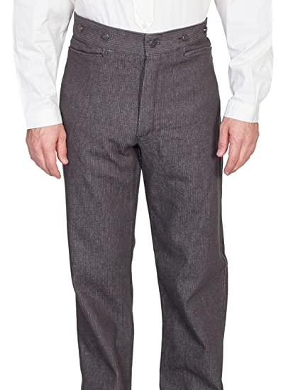 Edwardian Men's Pants Raised Dobby Stripe Pants $84.00 AT vintagedancer.com