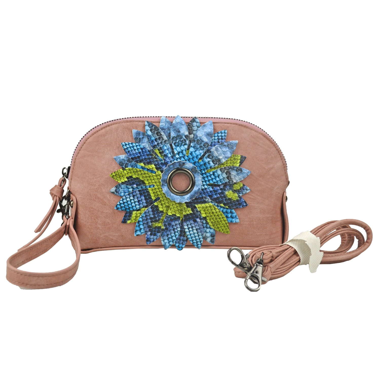 Women Flower Clutches Wristlet Handbag Evening Bags Card Clutch Holder Purse ChicWedding Crossbody bag-Sibalasi (Pink)