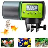 lychee Automatic Fish Feeder Electric Auto Fish Feeder Vacation Fish Feeder Moisture-Proof Fish Food Dispenser for…