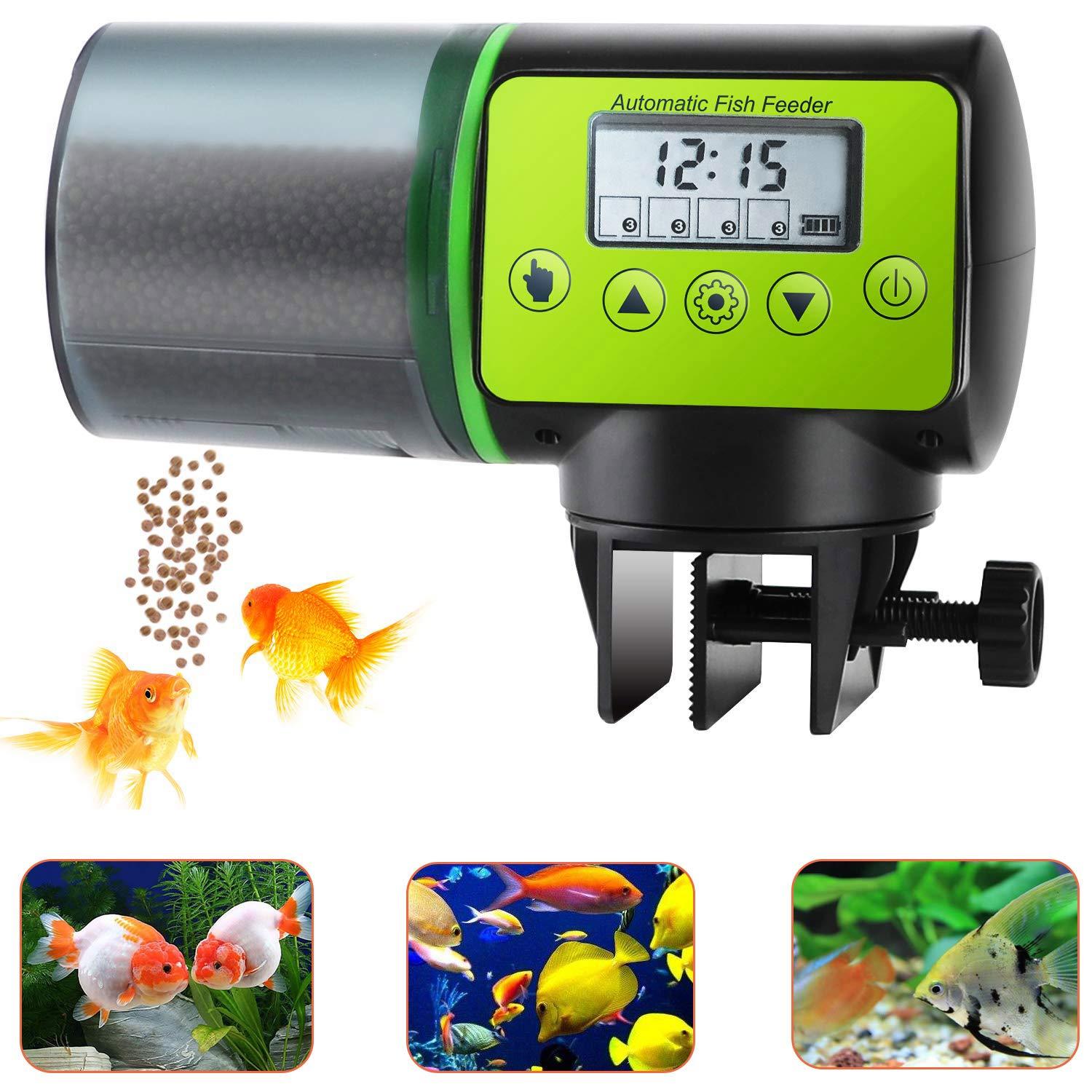 lychee Automatic Fish Feeder Upgraded 200ml Moisture-Proof Automatic Aquarium Fish Feeder Vacation Fish Food Timer Dispenser for Aquarium 21 Days When You Out Office,Home by lychee