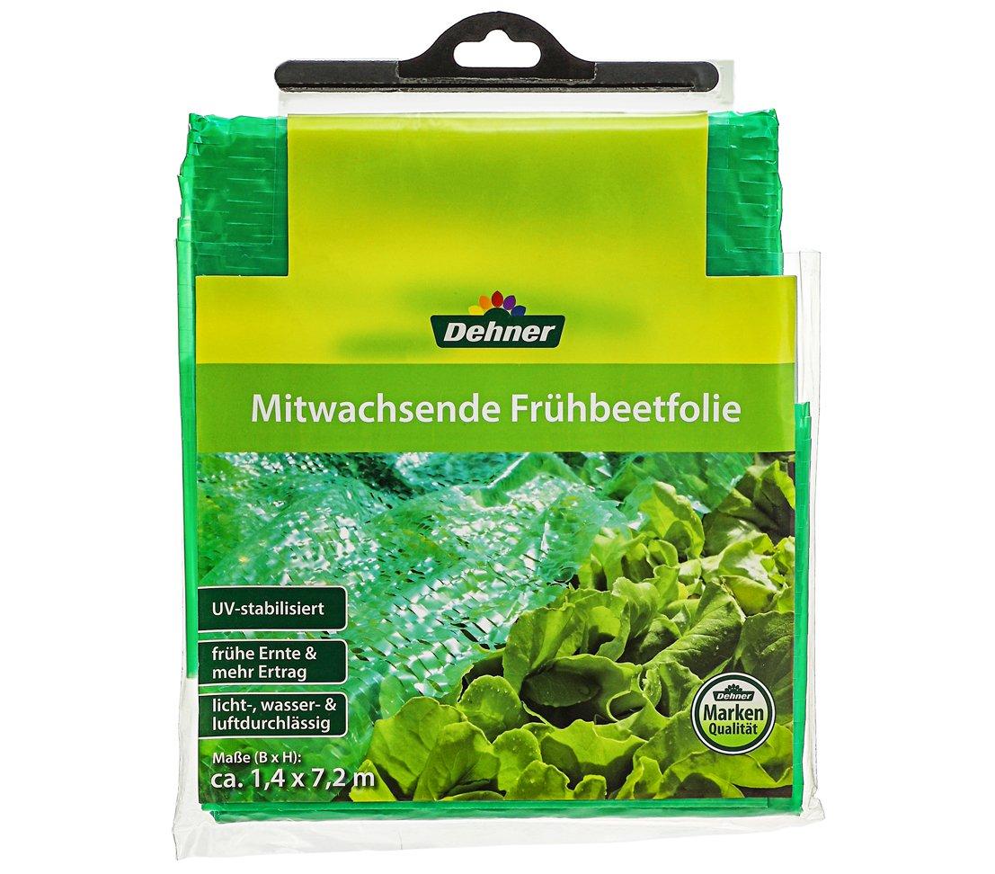 Dehner Frühbeetfolie mitwachsend, ca. 7.2 x 1.4 m, Kunststoff, grün grün 4023818