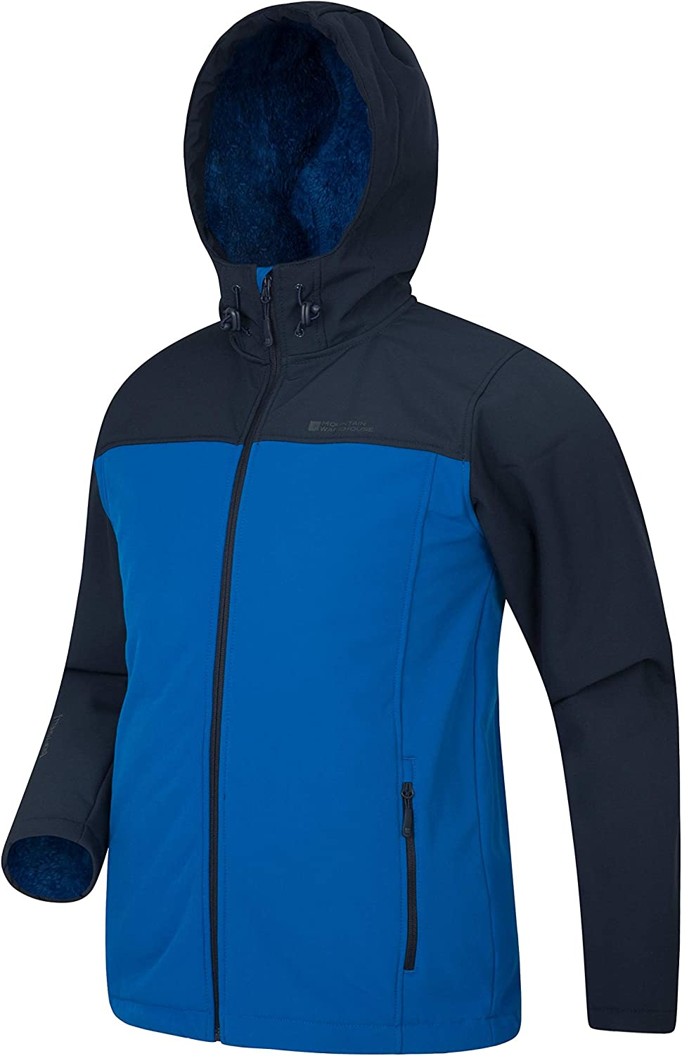 Camping Fleece Lined Outerwear Bonded Fabric Jacket Water Resistant Rain Sweater Clothing for Winter Walking Outdoor Mountain Warehouse Arctic II Mens Softshell
