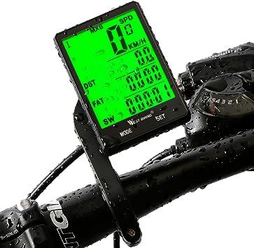 Ordenador con cuentakilómetros y velocímetro para bicicleta de ...