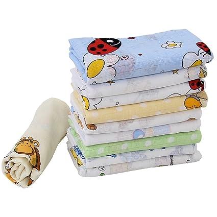 10 pañales de tela multicolor nacionalmasculino trapos gasa algodón 70 x 80 cm