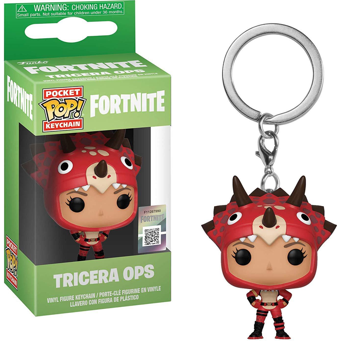 Amazon.com: Funko Tricera Ops: Fortnite x Pocket POP! Mini ...