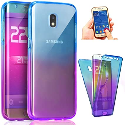 separation shoes 94c08 04901 PHEZEN Galaxy J5 Pro 2017 Case,Full Body Coverage 360 Front and Back  Protective Ultra Slim Scratch Resistant Clear TPU Silicone Rubber Cover for  ...
