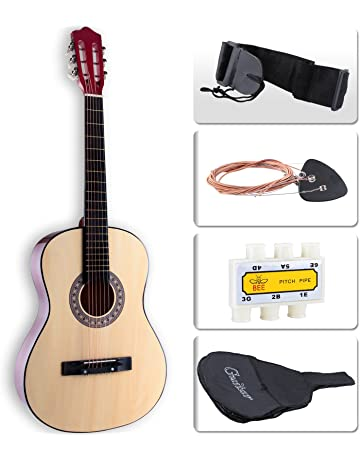 LAGRIMA Beginners Acoustic Guitar w/Guitar Case, Strap, Tuner & Pick Steel Strings
