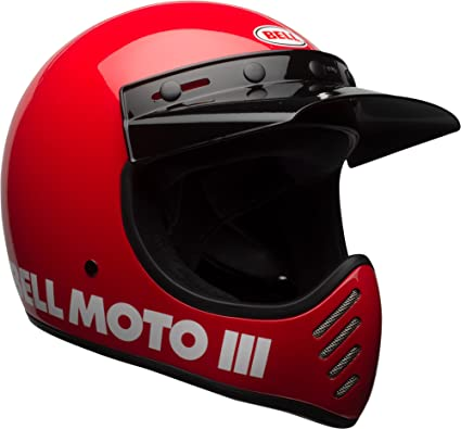 Bell Moto-3 Off-Road Motorcycle Helmet (Classic Gloss Red, Medium)