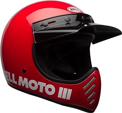 Bell Moto-3 Off-Road Motorcycle Helmet (Classic Gloss Red, Medium)