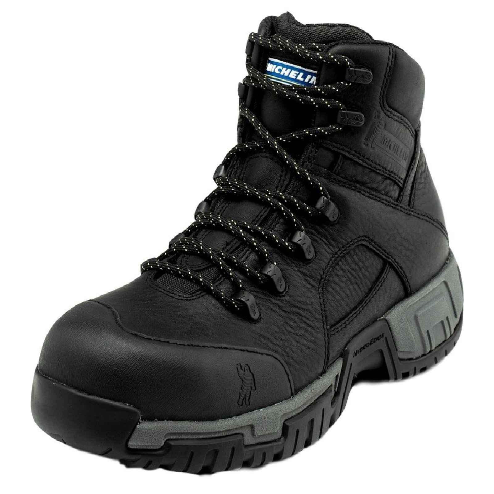 Michelin Men's Hydroedge Steel Toe Boots,Black,10 M