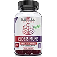 Zhou Nutrition Elder-Mune Elderberry Gummies 125mg (60 Vegan Gummies)