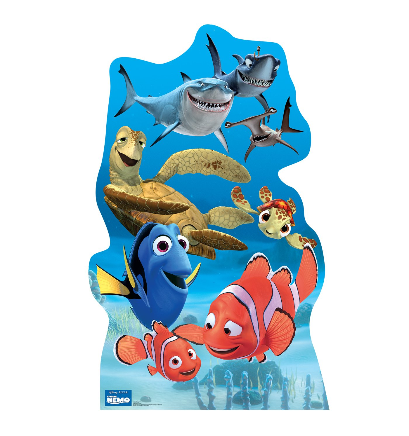 Finding Nemo Group - Disney Pixar's Finding Nemo - Advanced Graphics Life Size Cardboard Standup by Advanced Graphics