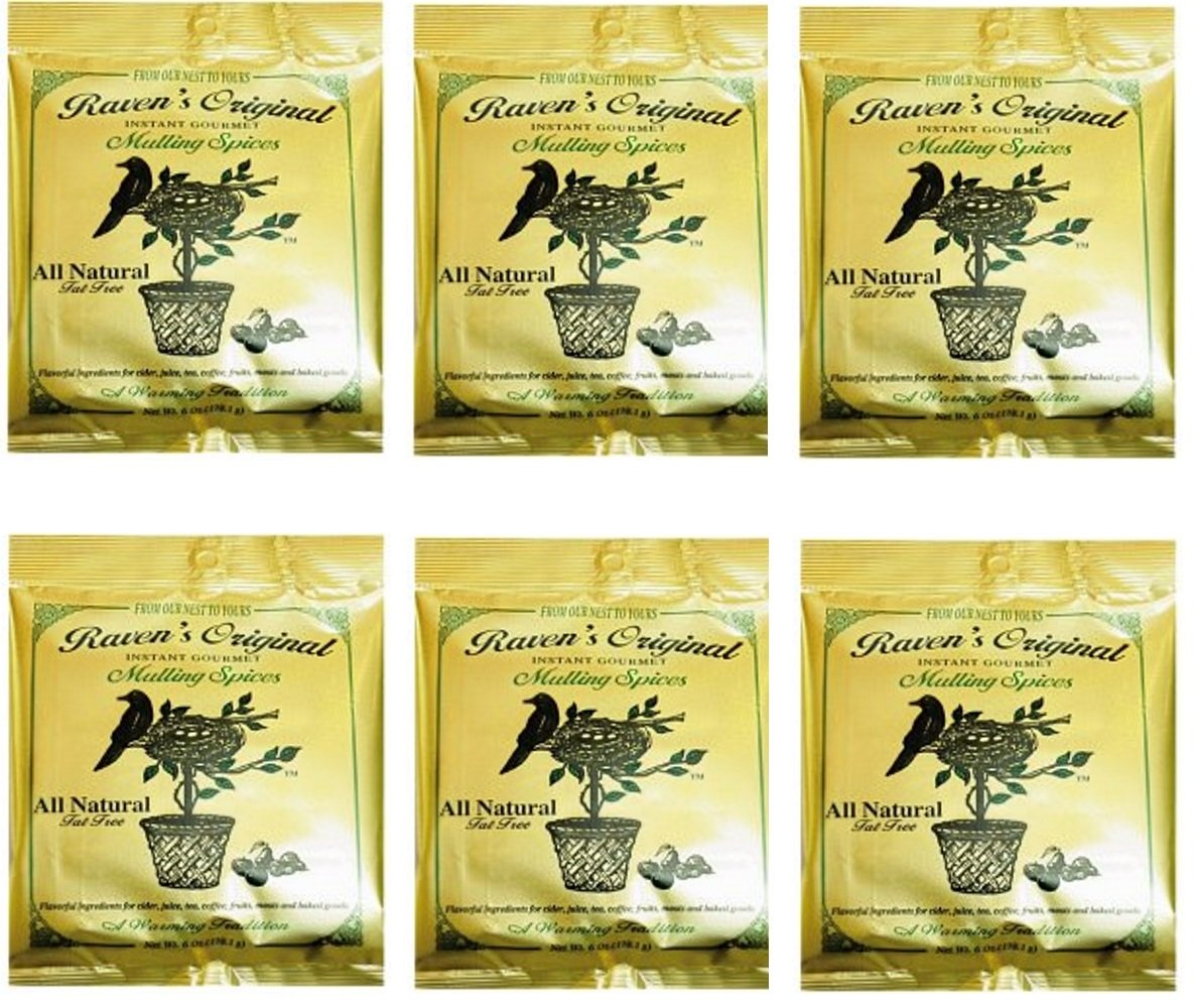 Raven's Original Mulling Apple Cider Spices - 6 Ounce Package (Pack of 6)