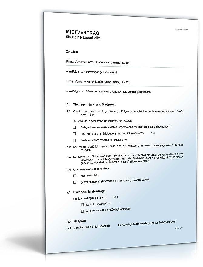 Mietvertrag Lagerraum [Word Dokument]: Amazon.de: Software