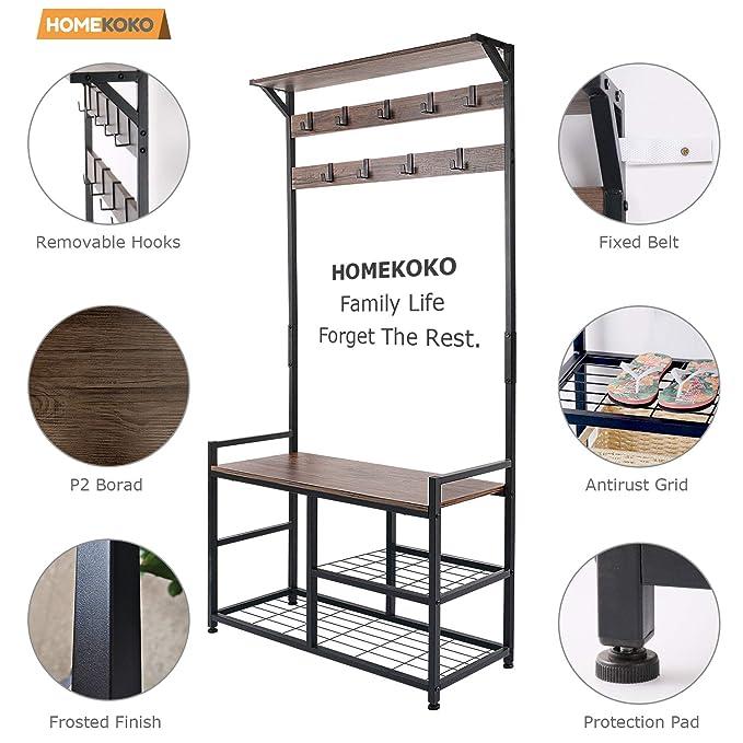 Amazon.com: HOMEKOKO - Perchero de pie para zapatos, estante ...