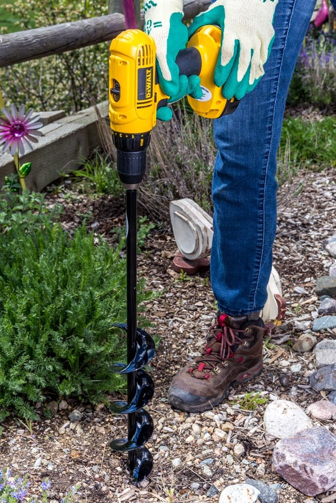 """Power Planter 3""""x24"""" Extended Length Bulb & Bedding Plant Auger with 1/2"""" Non-Slip Hex Drive"""