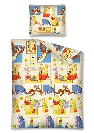 Winnie Pooh Bettwäsche Kinder Bettwäsche 140x200 Cm Biber Amazon