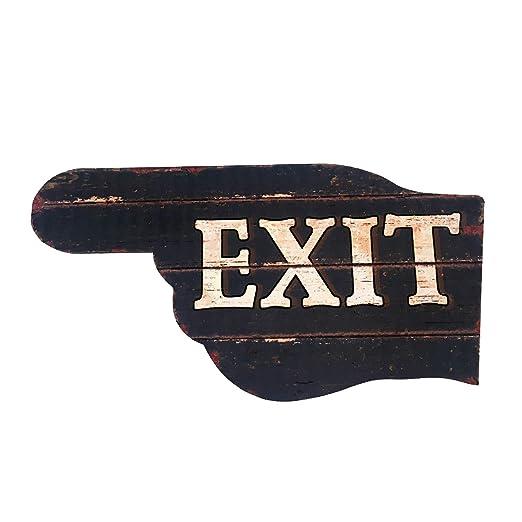 Rebecca SRL Plaqua Placa Cartel de Chapa Vintage Salida Exit ...