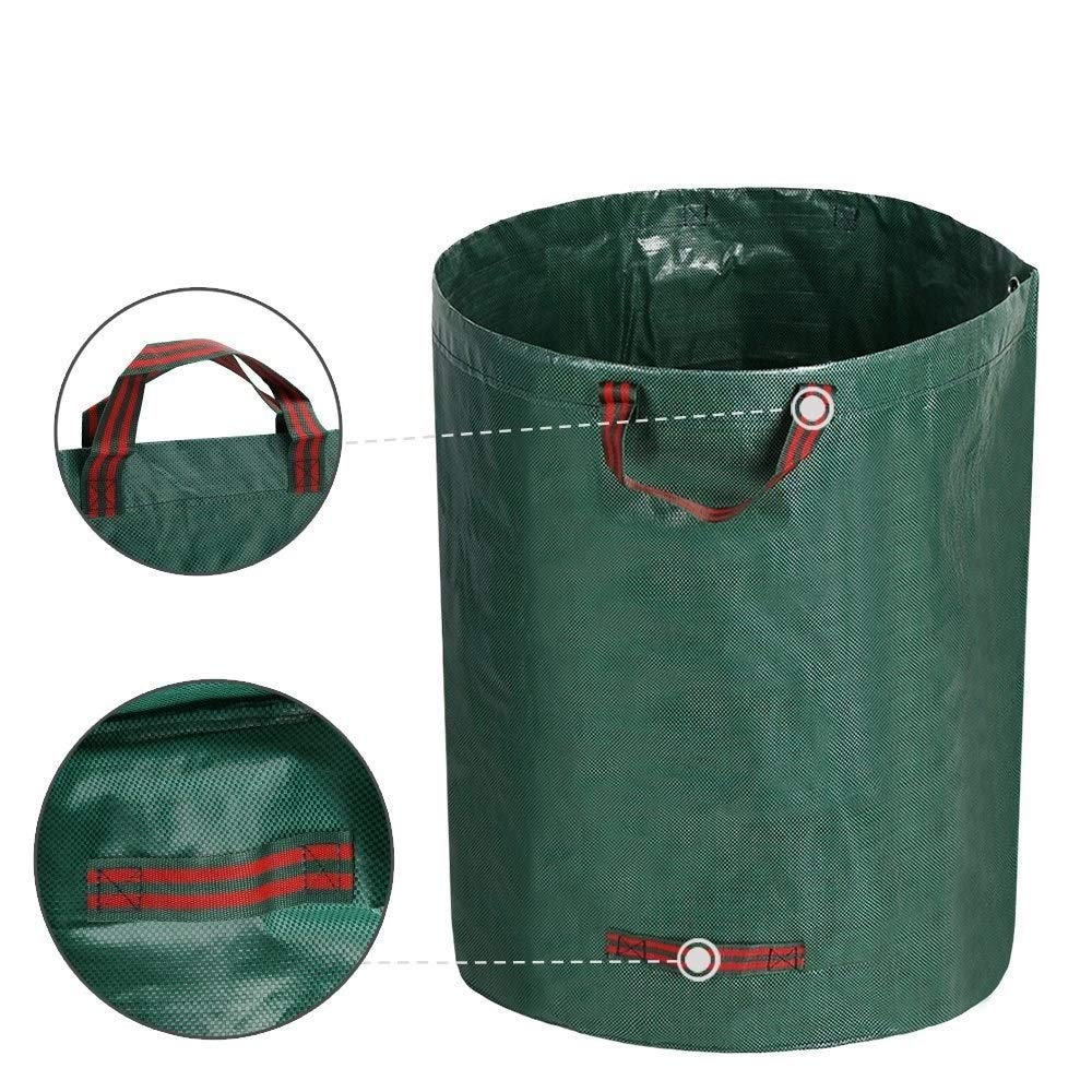 Cherlvy 100L Garden Waste Bags, Reusable Collapsible Gardening Leaf Bags Containers Trash Bucket