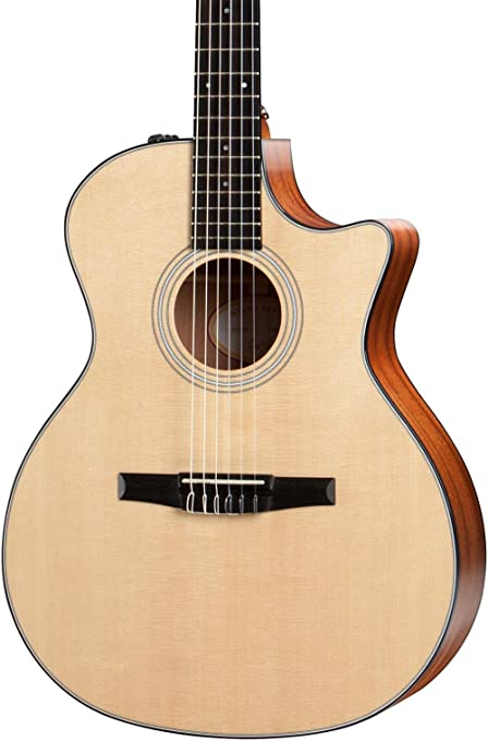Amazon.com: Taylor 314ce-N Nylon String Grand Auditorium Acoustic Guitar , Sapele: Musical Instruments