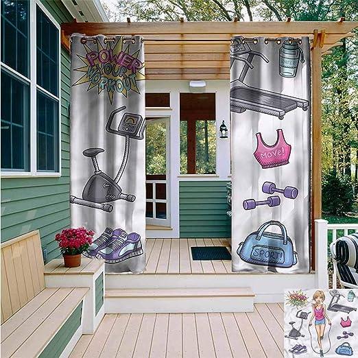 Cortina de pérgola, Fitness Be Active Be Healthy, Simple y Elegante,: Amazon.es: Jardín