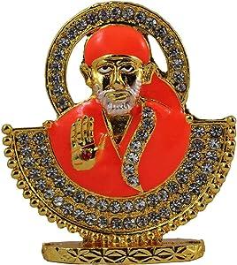 Odishabazaar Sai Baba Idol for Car Dashboard/Home/Office Item 4x4x1.5 cm